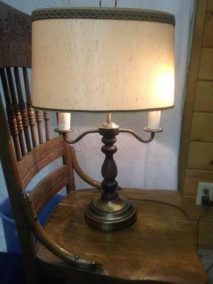 post 249 candle lamp