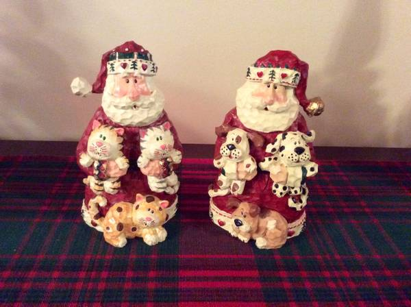 Santa with dog or cat